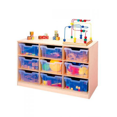 Nine-Tray Storage With Trays
