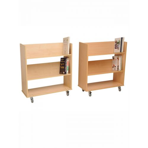 2 Level book rack with wheels