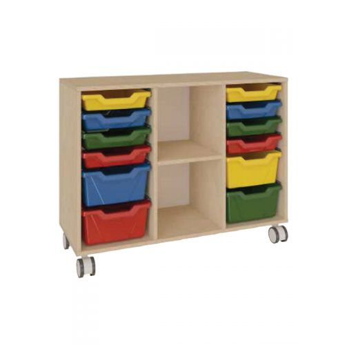 12 tray 4 partition toy storage