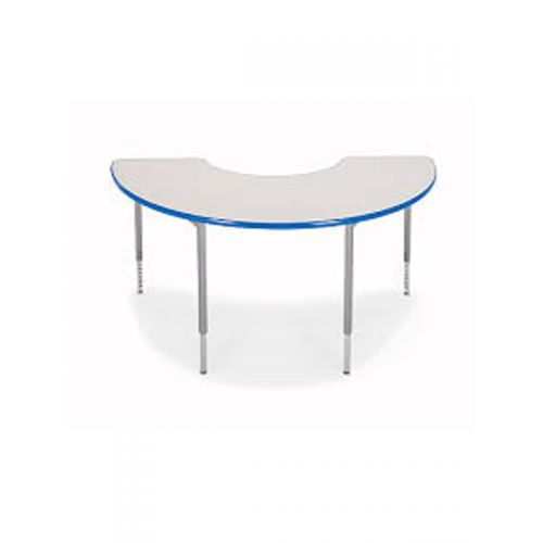 Semi circle height adjusatble desk