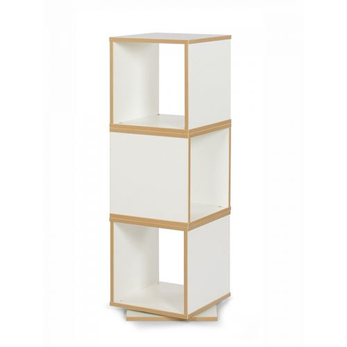 Tower book rack with rotation