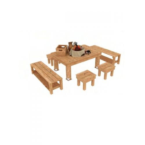 Outdoor Rectangular Table with 8 seating