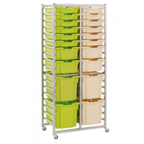 Double thirty six tray rack