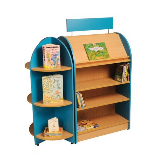 face out storage for library with signage