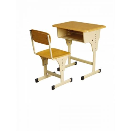 Height adjustable chair and desk