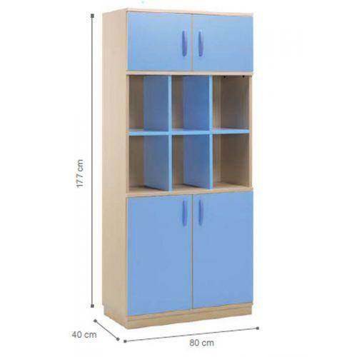 Lockable with open shelf