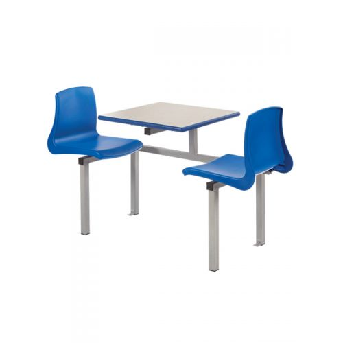 Two seater canteen table and chair