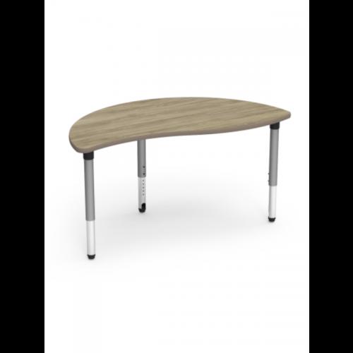 Adjustable height flexi table