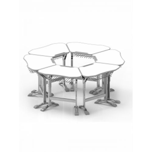 trapezium desk (single desk)