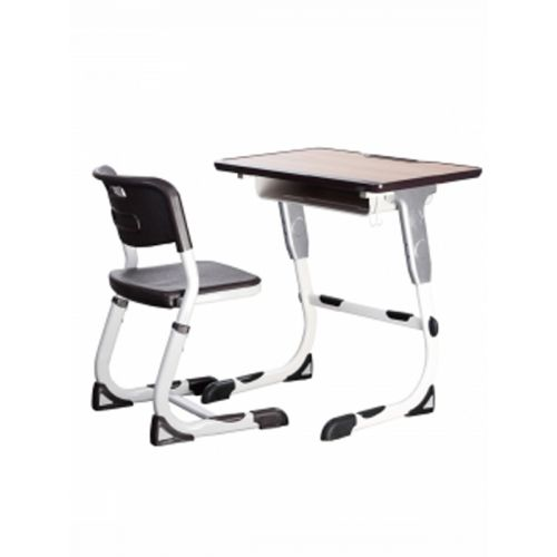 Height adjustable chair and desk combo