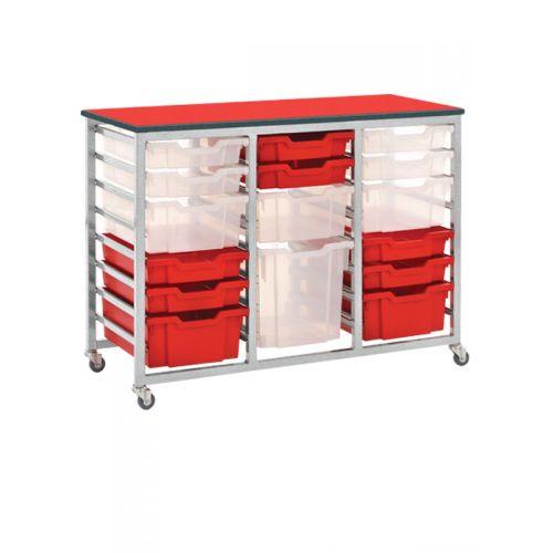 Triple twenty four tray rack
