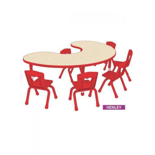 Bean shaped wooden top 6 seater