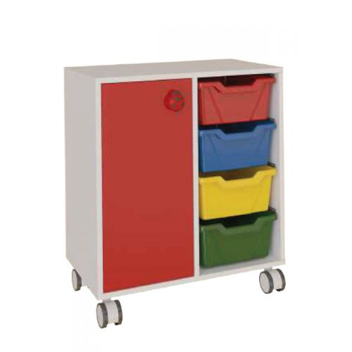 4 tray toy cabinets with shutters