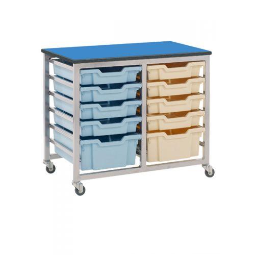 Double twelve tray rack