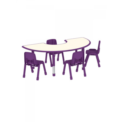 4 seater semi circular desk and chairs combo