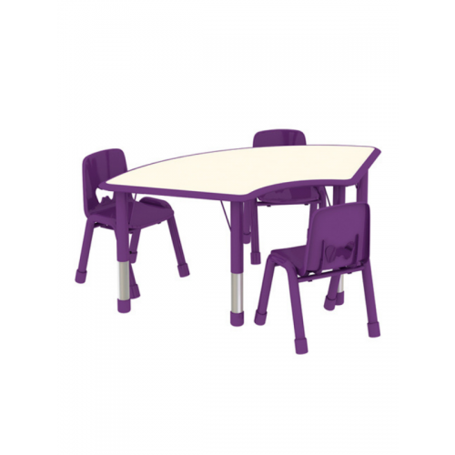 3 seater flexi desk with chairs