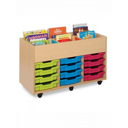 12 tray toy storage with top drop