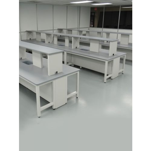 PASCAL lab wokrstation with metal frame and granite top [ for 6 students ]