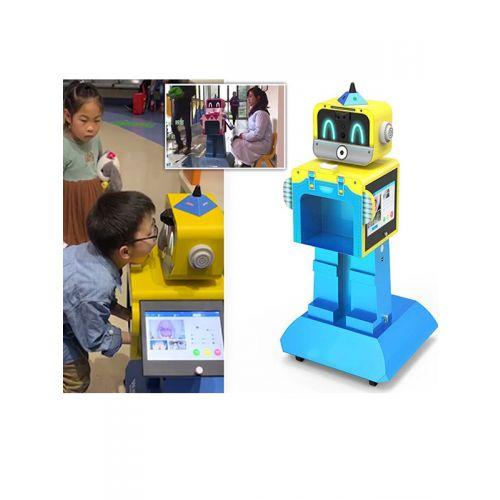 Temperature checking robot