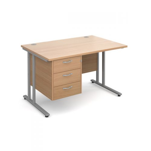 Deluxe C-Leg Clerical Desk 3 Drawers