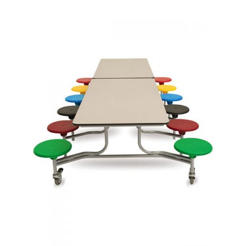 Foldable dining table 12 seater with MS powder coated seats