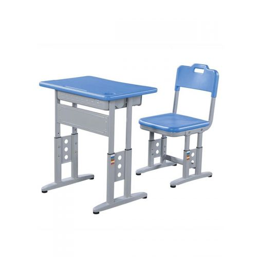 Double Steel Tube PP Top Table And Chair Set With Big Drawer