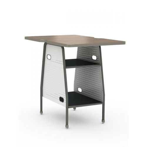 Maker invent desk without wheels
