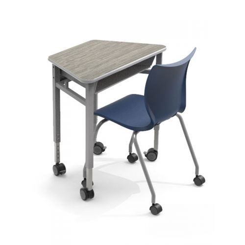 trapezoidal table and chair