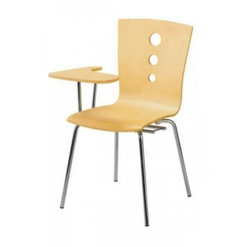 Bent ply classroom chair with plank