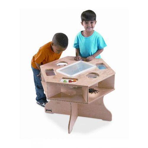 Six sided table for curious scientist
