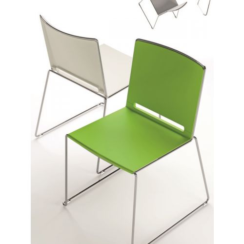 Stackable conference chair with multiple forms and colors