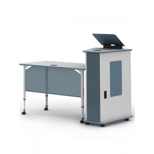 Teacher desk and podium