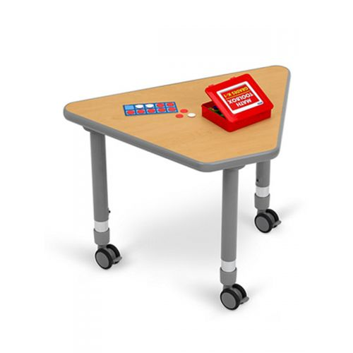 trapezium table with wheels